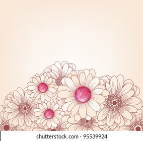 EPS 10 vector - artistic floral background with space for text