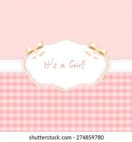 eps 10 vector card design. it's a girl