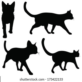 EPS 10 vector collection of cats silhouettes