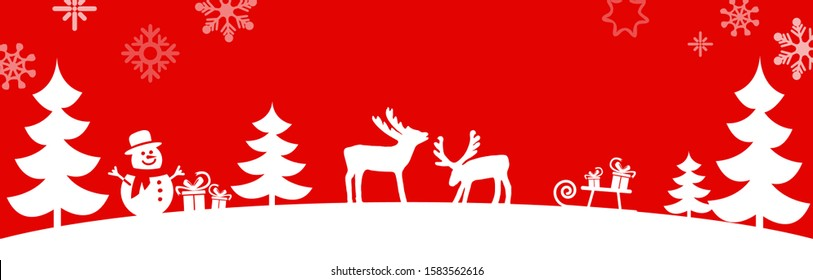 EPS 10 vector file showing simple christmastime background with typical XMAS elements, fall of snow and colored background