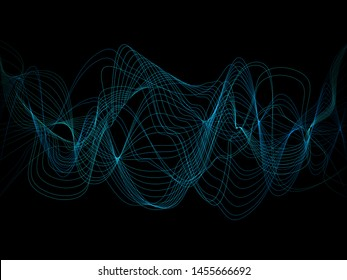 EPS 10 vector. Futuristic colorful background. Backdrop with lines and waves.