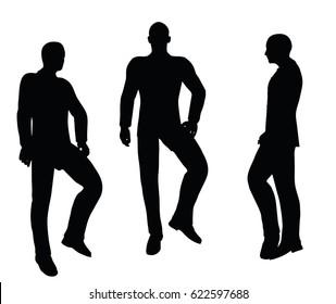 EPS 10 vector illustration of  businessman standing on white background