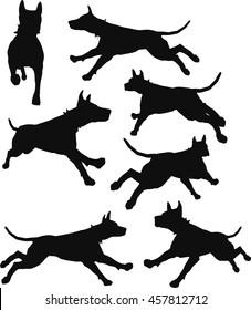 EPS 10 vector illustration of dog silhouette in black
