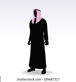 EPS 10 Vector Illustration of man in middle east style clothing dress