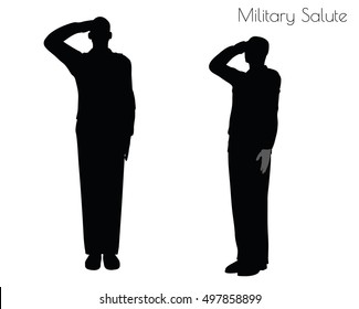 EPS 10 vector illustration of a man in salute pose on white background