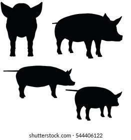 豚 シルエットのイラスト素材画像ベクター画像 Shutterstock