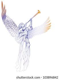 EPS 8/ Blowing Angel - blue gamma