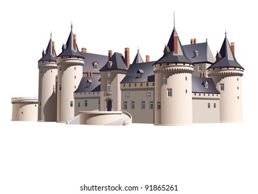EPS 8/ The medieval French chateau - an architectural fantasy