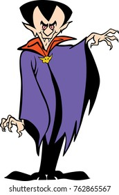 eps illustration artwork of a funny Vampire cartoon character