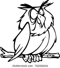 eps Illustration of an serious wise but angry Owl