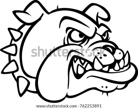 Eps Illustration Clipart Head Bulldog Animal Pet Stock Vector