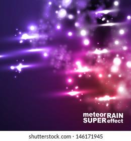 eps, meteor rain in neon style