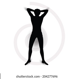 EPS Vector 10 - silhouette of a man lying down