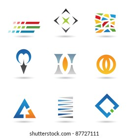 Eps Vector illustration of geometrical abstract shapes