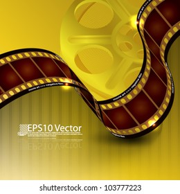 eps10 abstract film reel background