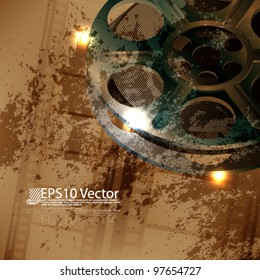 eps10 abstract vector film reel concept design