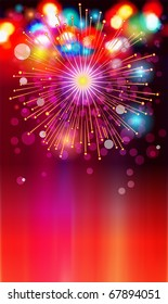 EPS-10: colored lights and bursts for the New Year or other celebrations