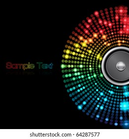 EPS10 Colorful Speaker Abstract Vector Background