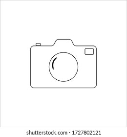 Eps10 Design a camera with a drawing program The camera on a white background ,Camera icon, flat photo camera vector isolated.