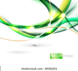 Eps10 Futuristic Modern Abstract Wave Design
