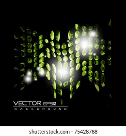 eps10 green futuristic abstract vector design on black background