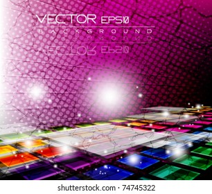 eps10 grunge multicolor abstract vector design