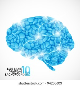 eps10, human brain, vector abstract background