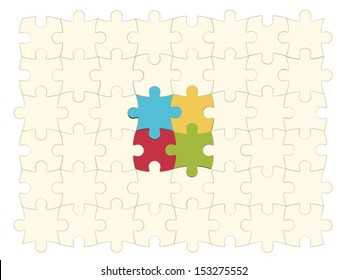 Eps10 illustration : Colorful Puzzle Concept