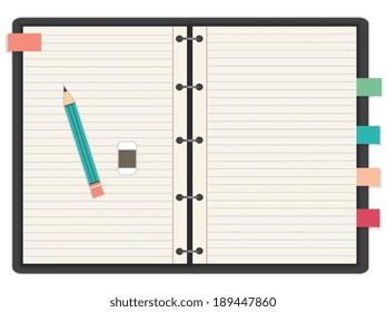 Eps10 Illustration : Note book concept