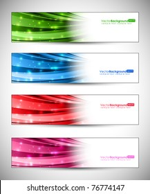 Eps10 Set of Banner Vector Design