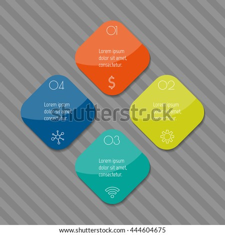 Eps 10 Square Infographic Diagram Isolated Chart Stock Vector