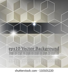 eps10 vector abstract 3D cube seamless concept background