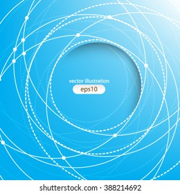 eps10 vector Abstract background. scientific communication in motion concept design