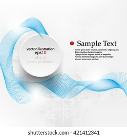 eps10 vector abstract elegant wave design background