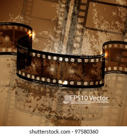 eps10 vector abstract film strip background design