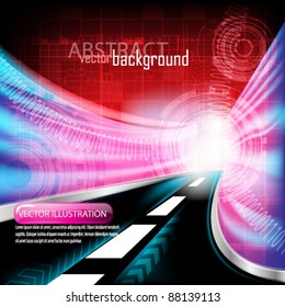 eps10 vector abstract futuristic tunnel highway background design
