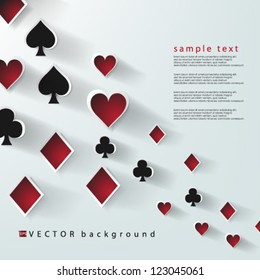 Eps10 Vector Abstract Playing Cards Elements Background design