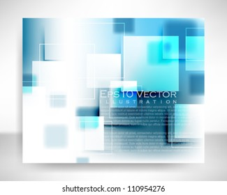 eps10 vector abstract square shapes illustration
