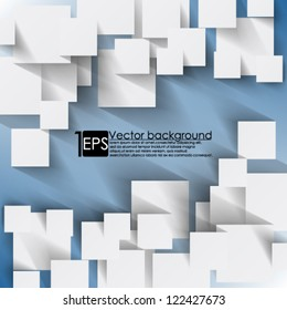 Eps10 Vector Background Overlapping  squares concept