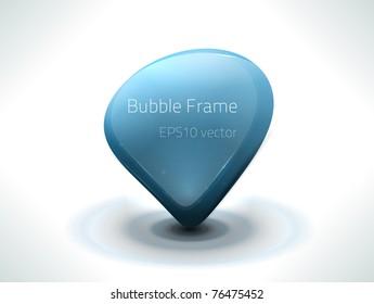 EPS10 vector bubble frame