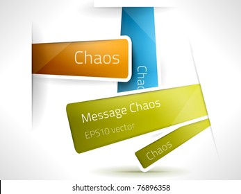 EPS10 vector chaos stickers for your messages