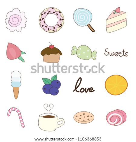 Eps 10 Vector Cute Hand Draw Doodle Stock Vector Royalty Free