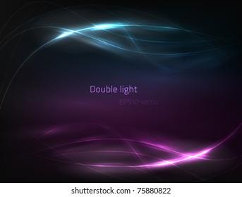EPS10 vector double light