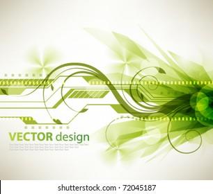 eps10 vector futuristic burst green design