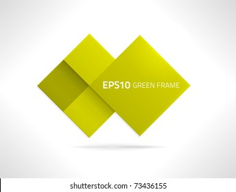 EPS10 vector green frame for your designs