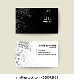 53dd12912dbe0 eps10 vector illustration abstract elegant business card template