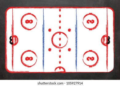 EPS10 Vector Illustration of a Blackboard with an Ice Hockey field