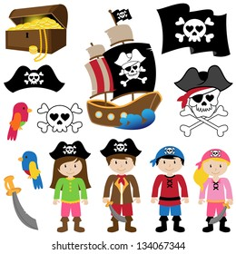 EPS10 Vector Illustration of Pirates