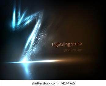 EPS10 vector lightning strike