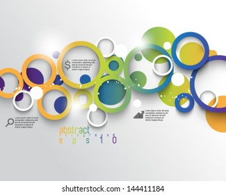 eps10 vector multicolored infographics concept background